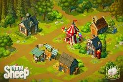 Tiny Sheep - Ухаживаем за овцами и строим городок на iOS